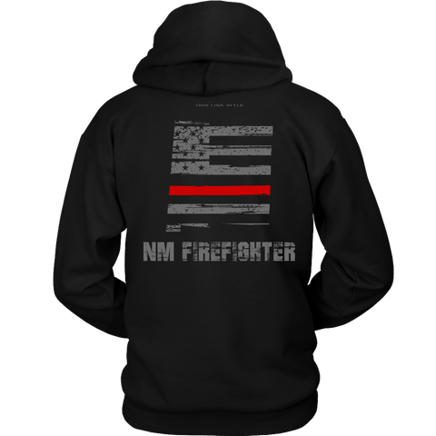 New Mexico Firefighter Thin Red Line Hoodie - Thin Line Style