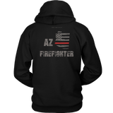 Arizona Firefighter Thin Red Line Hoodie - Thin Line Style