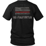 Kansas Firefighter Thin Red Line Shirt - Thin Line Style
