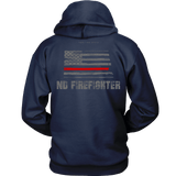 North Dakota Firefighter Thin Red Line Hoodie - Thin Line Style