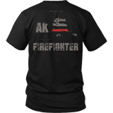 Alaska Firefighter Thin Red Line Shirt - Thin Line Style