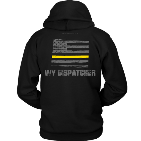 Wyoming Dispatcher Thin Gold Line Hoodie - Thin Line Style