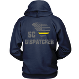 South Carolina Dispatcher Thin Gold Line Hoodie - Thin Line Style