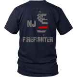 New Jersey Firefighter Thin Red Line Shirt - Thin Line Style