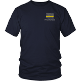 Wyoming Dispatcher Thin Gold Line Shirt - Thin Line Style