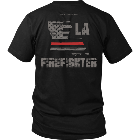 Louisiana Firefighter Thin Red Line Shirt - Thin Line Style