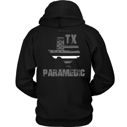 Texas Paramedic Thin White Line Hoodie - Thin Line Style