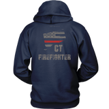 Connecticut Firefighter Thin Red Line Hoodie - Thin Line Style