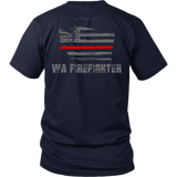Washington Firefighter Thin Red Line Shirt - Thin Line Style