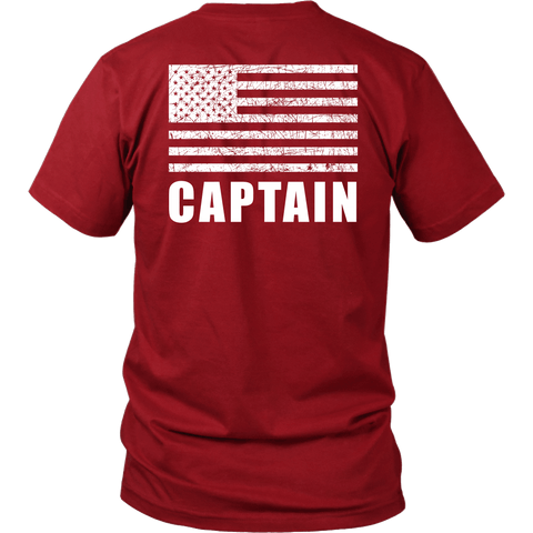 Fire Rescue Captain Duty Shirt - Thin Line Style