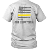 New Mexico Dispatcher Thin Gold Line Shirt - Thin Line Style