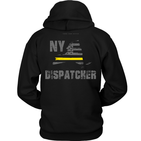 New York Dispatcher Thin Gold Line Hoodie - Thin Line Style