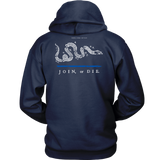 Join or Die Thin Blue Line Law Enforcement Hoodie - Thin Line Style