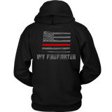 Wyoming Firefighter Thin Red Line Hoodie - Thin Line Style