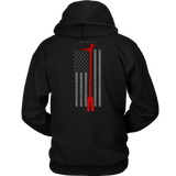Halligan Tool Firefighter USA Flag Hoodie - Thin Line Style