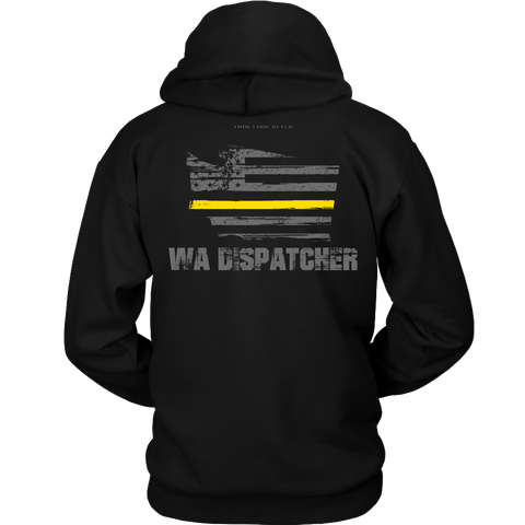 Washington Dispatcher Thin Gold Line Hoodie - Thin Line Style
