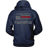 Oklahoma Firefighter Thin Red Line Hoodie - Thin Line Style