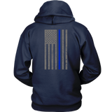 Law Enforcement Thin Blue Line USA Flag Hoodie - Thin Line Style
