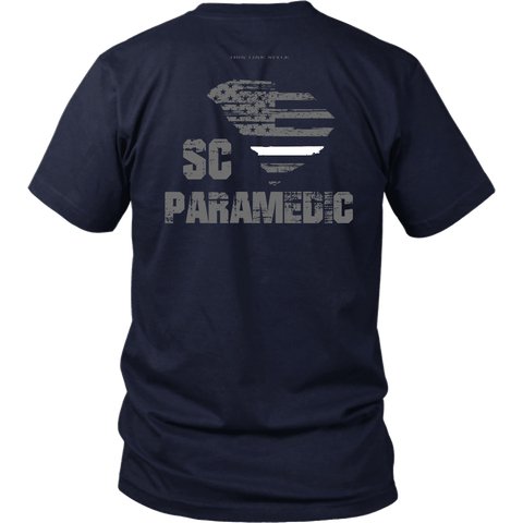 South Carolina Paramedic Thin White Line Shirt - Thin Line Style
