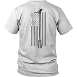Subdued Halligan Tool Firefighter USA Flag Shirt - Thin Line Style
