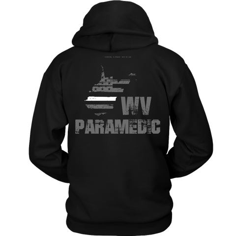 West Virginia Paramedic Thin White Line Hoodie - Thin Line Style