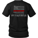 Wyoming Firefighter Thin Red Line Shirt - Thin Line Style
