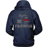 Michigan Firefighter Thin Red Line Hoodie - Thin Line Style