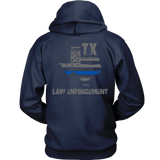 Texas Law Enforcement Thin Blue Line Hoodie - Thin Line Style