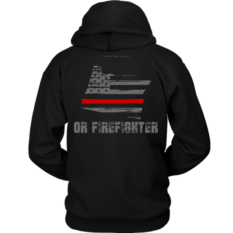 Oregon Firefighter Thin Red Line Hoodie - Thin Line Style