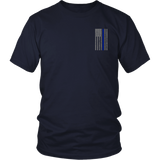 Law Enforcement Thin Blue Line USA Flag Shirt - Thin Line Style