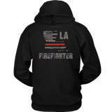 Louisiana Firefighter Thin Red Line Hoodie - Thin Line Style