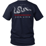 Join or Die Thin Red Line Firefighter Shirt - Thin Line Style