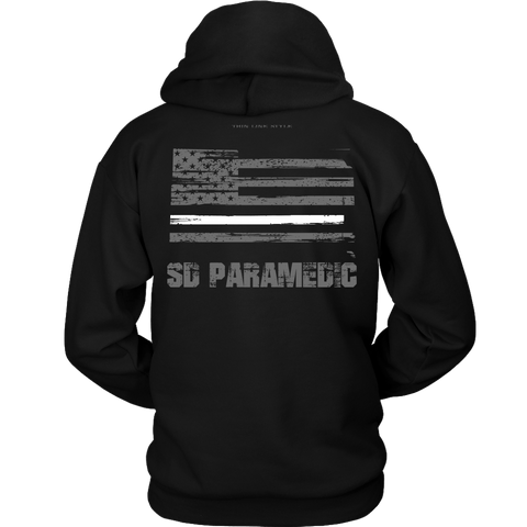 South Dakota Paramedic Thin White Line Hoodie - Thin Line Style