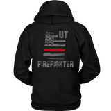 Utah Firefighter Thin Red Line Hoodie - Thin Line Style