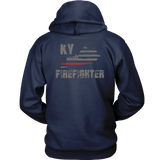Kentucky Firefighter Thin Red Line Hoodie - Thin Line Style
