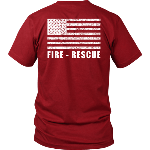 Fire Rescue Duty Shirt - Thin Line Style