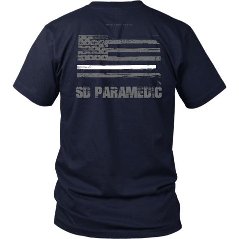 South Dakota Paramedic Thin White Line Shirt - Thin Line Style