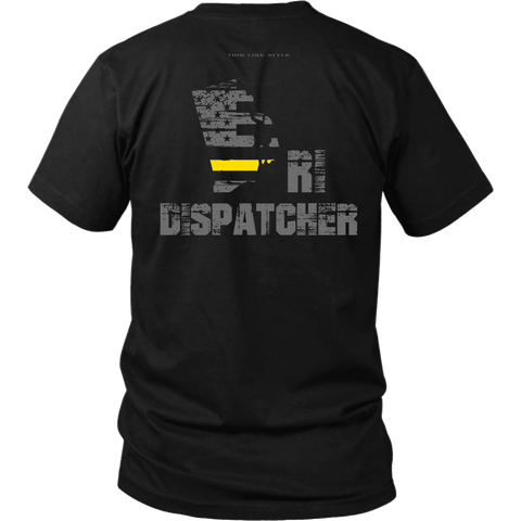 Rhode Island Dispatcher Thin Gold Line Shirt - Thin Line Style