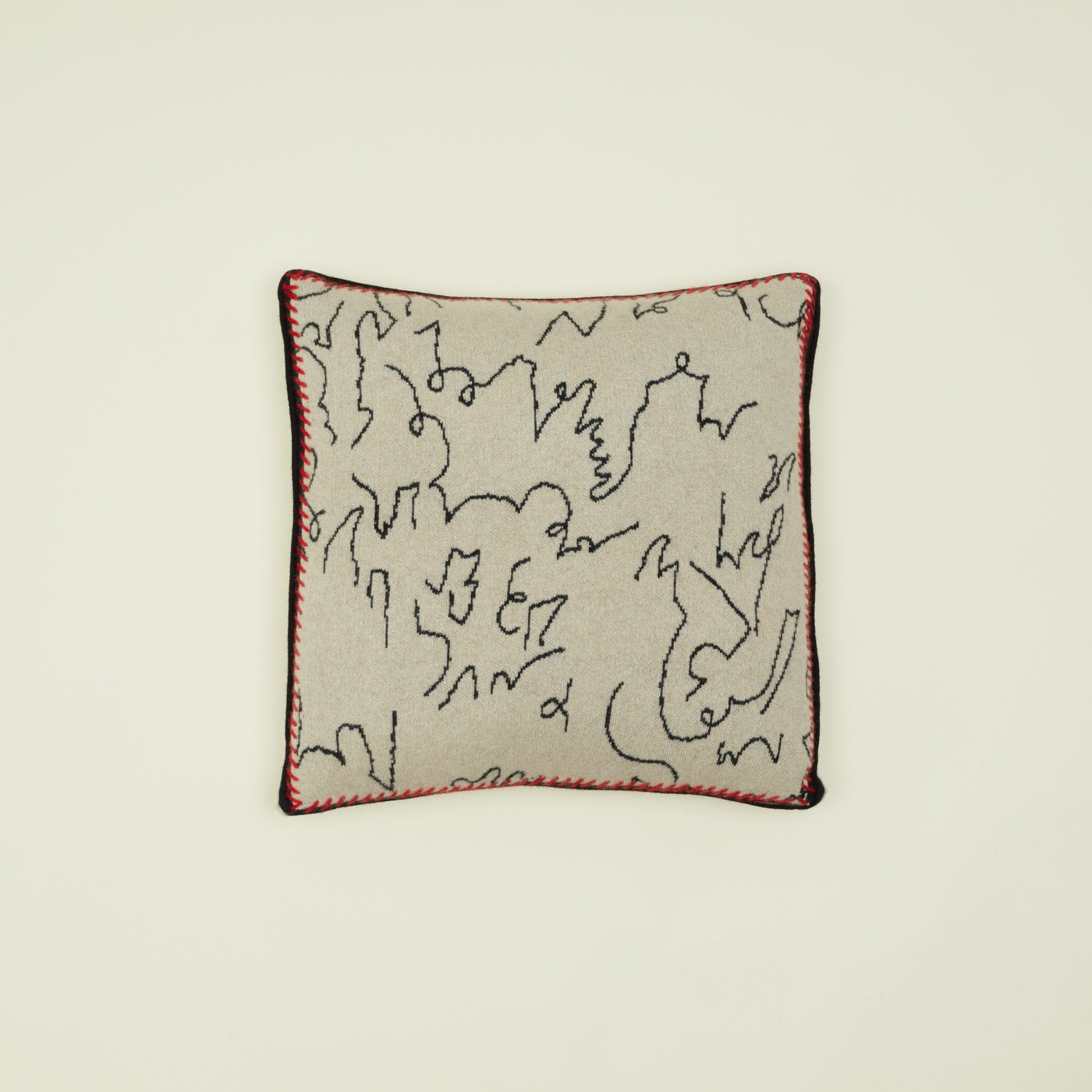 CASHMERE MODERN CALLIGRAPHY PILLOW