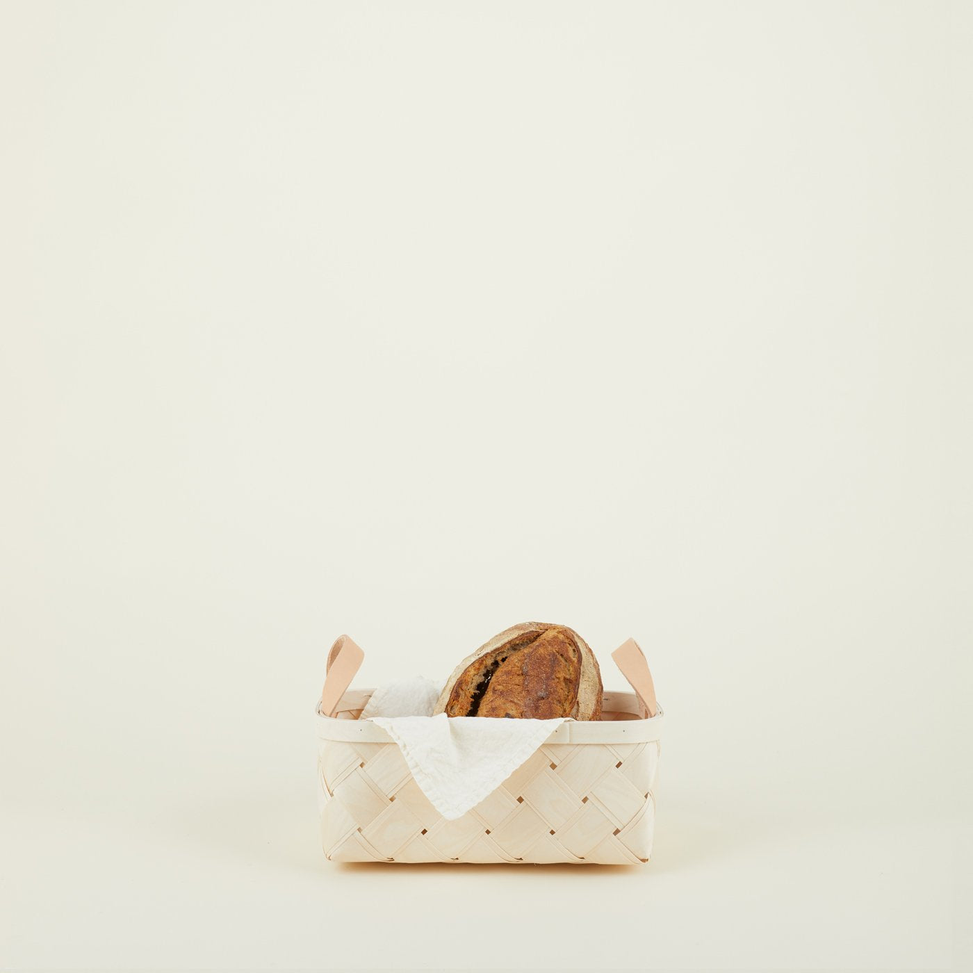BIRCH + LEATHER BASKETS