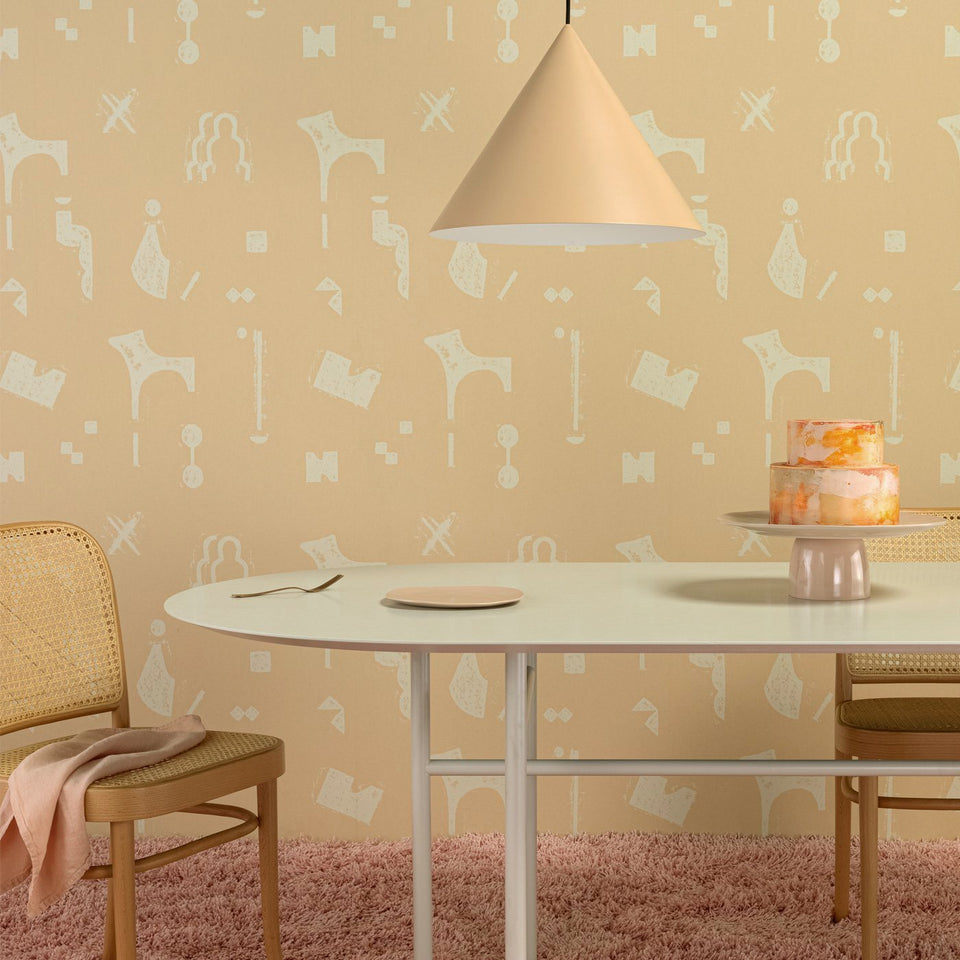 RUBBINGS WALLPAPER - EGGSHELL