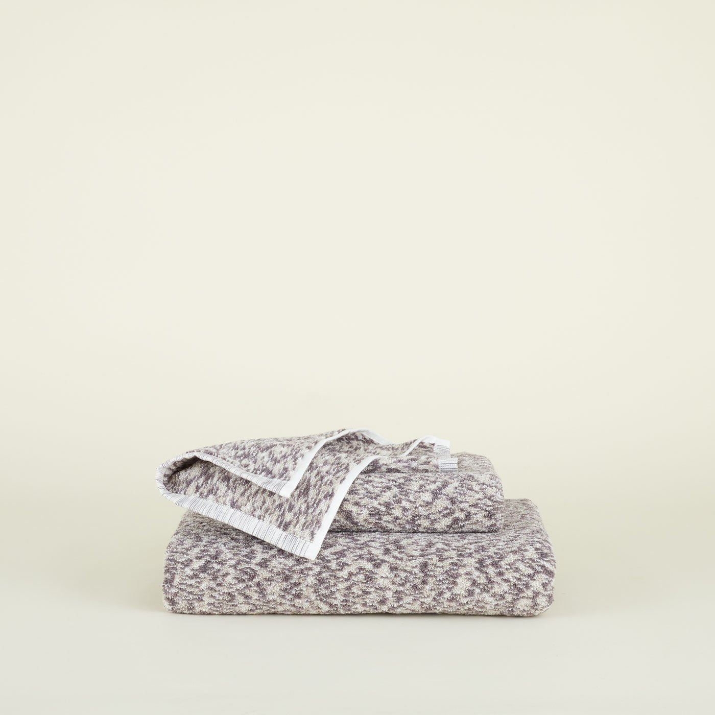 SPACE DYE TERRY TOWEL - GREY