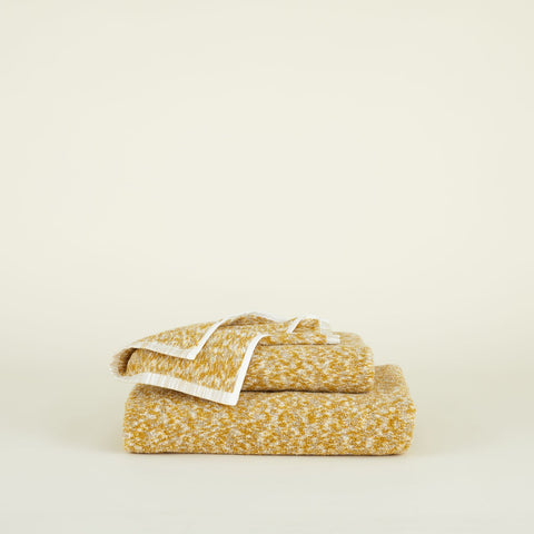 SPACE DYE TERRY TOWEL - MUSTARD