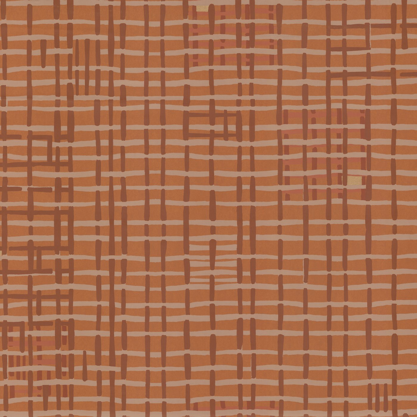 WEAVE WALLPAPER - TERRACOTTA