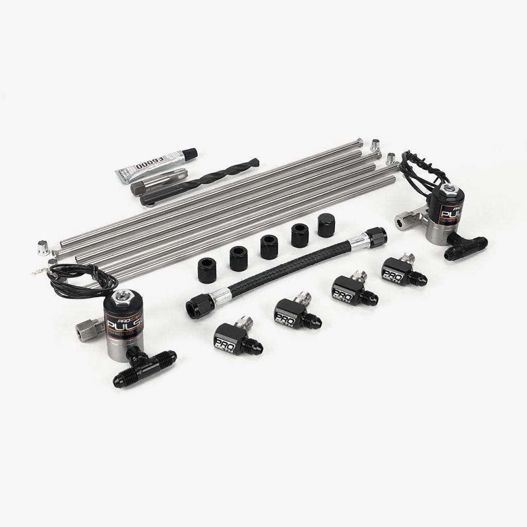 ProMeth Signature Series 4 Cylinder Direct Port With Elbow Nozzle Holders & Split Distribution Block (Ubend-It))