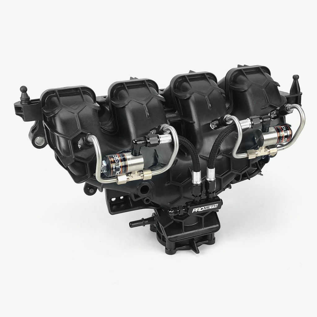 ProMeth Signature Series 4 Cylinder Direct Port With Split Block, Dual Solenoids & Straight Nozzle Holders (Pre-Bent)