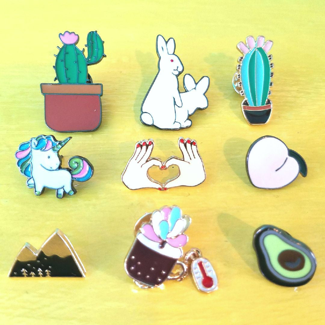 Fun enamel pins