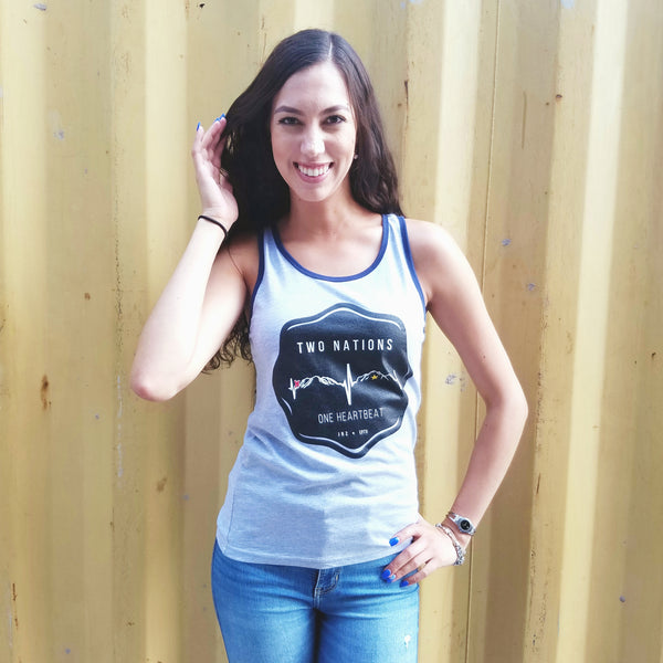 Two Nations One Heartbeat Tank Top
