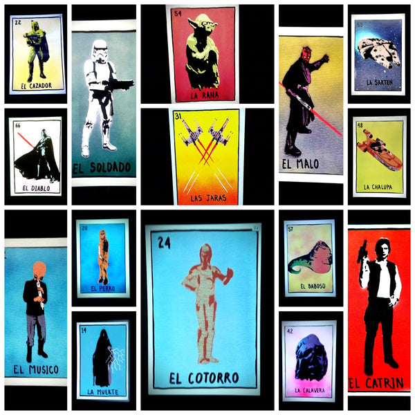loteria star wars postcards