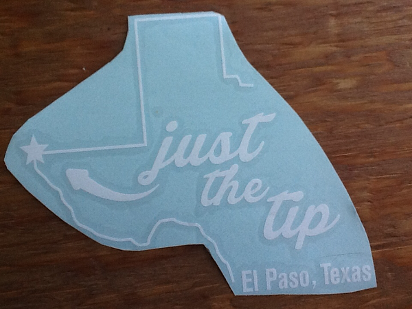 Just The Tip decal sticker